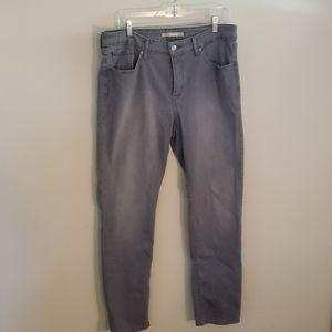 Gray Levi Skinny Jeans